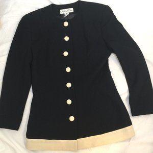 Christian Dior Classic, Black 100% Wool Blazer